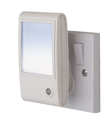Firstlight 8372WH White with White LED LED Sparkle Night Light
